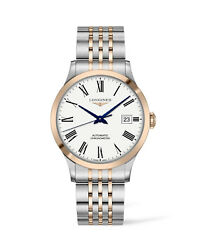 New Longines Record Automatic Two-tone White Dial Menand039s Watch L28215117
