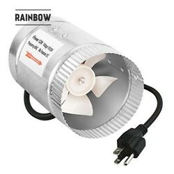 4 Inch 100 CFM Booster Fan Inline Duct Vent Blower for HVAC Exhaust and Intake