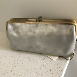 Hobo International Lauren Northern Lights Leather Double Frame Clutch Wallet NWT