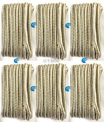 6 Gold/white Double Braided 1/2 X 15and039 Hq Boat Marine Dock Lines Mooring Ropes
