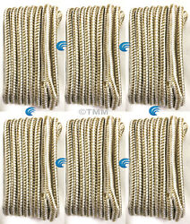 6 Gold/white Double Braided 1/2 X 15' Hq Boat Marine Dock Lines Mooring Ropes