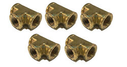 5 Pack Brass Forged Reducing Tee Fitting 3/4 X 3/4 X 1/2 Female Npt Fnpt Wog