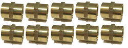 10 Pack Brass Hex Coupling 1 Coupler Union Fitting Adapter Air Fuel Water