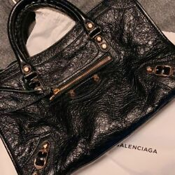Balenciaga Classic Gold City S  wStrap and Dust Bag 2018 Mint Condition