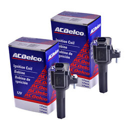Set Of 2 Acdelco Bs-c1558 Ignition Coil For Chevrolet Gmc Hummer Buick 06-12