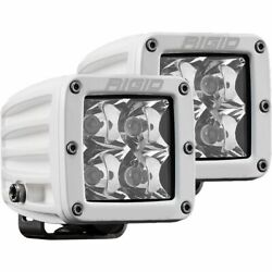 Rigid Industries D-series Pro Hybrid Spot Lights With Surface Mounts - Pair