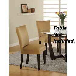 Bloomfield Gold Microfiber Parson Dining Side Chair by Coaster - Set of 4