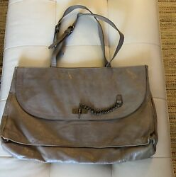 bimba y lola  Taupe Leather Handbag Tote $29.99