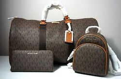 Michael Kors Signature Brown X-Large Travel Duffle XSmall Backpack