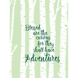 Blessed Curious Adventure Silver Birch Wall Art Print