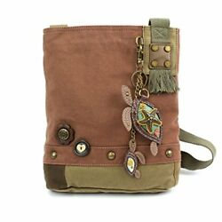Chala Patch Cross-Body Women Handbag Canvas Messenger Bag - Mauve Two Turtles