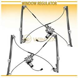 2pc Front Left+Right Power Window Regulator w Motor Fit ChryslerDodgePlymouth