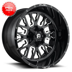 Fuel Stroke D611 Rim 24x14 8x170 Offset -75 Gloss Black And Milled Quantity Of 4