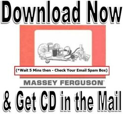 Massey Ferguson 165 150 175 Tractor Service Manual Parts Engines Manuals Cd