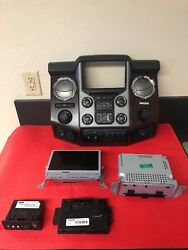 15-16 FORD F250 F350 NAVIGATION MYTOUCH RADIO CD CLIMATE CONTROL BEZEL # 1758