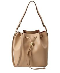 Salvatore Ferragamo Sansy Leather Drawstring Bucket Bag (New with tag)