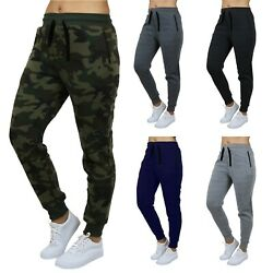 Womens French Terry Jogger Sweatpants Slim Fit Lounge Gym Sports Yoga NEW $14.97