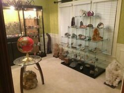 $75000 GEM CRYSTAL ROCK COLLECTION FOR SALE GLASS CASES PRICE LOWERED