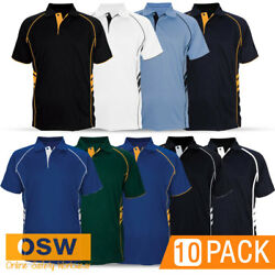 10 X Mens/womens Breathable Mini-pique Stylish Defender Staff/work/office Polos