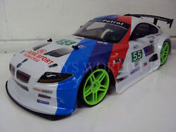 Bmw Z4 Large 4wd Drift Radio Remote Control Car 1/10 Rechargeable - White Blue