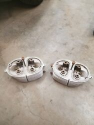 1959 Bmw 600 Isetta Left And Right Cylinder Heads Original Oem 00 21 080 083