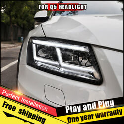 For audi q5 Headlights assembly Bi-Xenon Lens Double Beam HID KIT 2009-2018