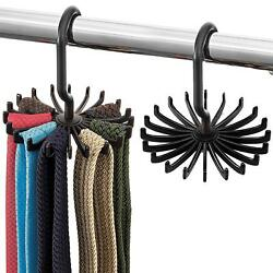 Space Saving Tie Rack - (2 Pack) Hanging Bow Tie Hanger with 20 Hooks Tie Holder $4.99