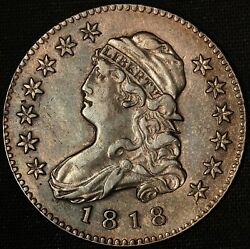 1818 25c Capped Bust Quarter - Free Shipping Usa