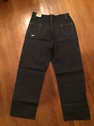 Vtg Deadstock Nwt Nos Rare H D Lee High Waisted Side Zip Jeans Usa 24,36