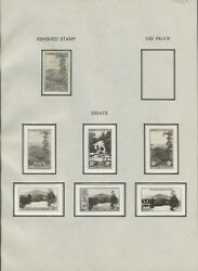 #749E 10c NATIONAL PARKS 6 DIFF OFFICIAL BEP ESSAYS (EX-ALVIN HALL) WLM7081