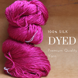 Pick up the Latest Trendy Colors Special Dye - 100% Silk Yarn for Knitting C4
