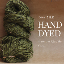 Pick up the Latest Trendy Colors Special Dye - 100% silk yarn for knitting C12