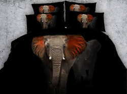 Elephantand039s Red Ear 3d Printing Duvet Quilt Doona Covers Pillow Case Bedding Sets