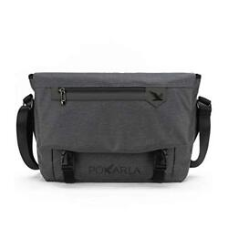 Pokarla Water Resistant Messenger Bag with Laptop Compartment & Padded Strap