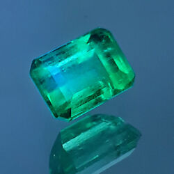 1.02 Cts Lovely Vivid Green Transparent Luster Natural Colombian Emerald