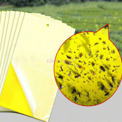 Yellow Sticky Glue Insect Killer Flying Pest Greenhouse Trap Control Yard Supply