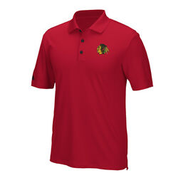 Chicago Blackhawks Adidas Embroidered Performance Red Polo Golf Shirt