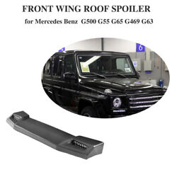 Carbon Fiber Front Roof Spoiler With LED DRL for Mercedes W463 G63AMG G65 AMG