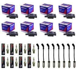 8 ACDelco BS-C1511 Ignition Coils+8 4303 Spark Plugs+8 Plug Wires wHeat Shields