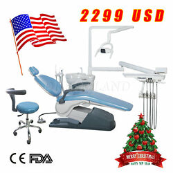 FDA Dental Unit Chair Thermostatic Water Supply Computer Controlled PU Auto