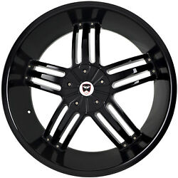 4 GWG WHEELS 20 inch Black SPADE Rims fits ET38 CHEVY IMPALA 2000 - 2013