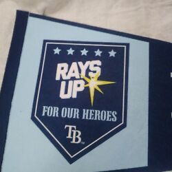 Tampa Bay Rays Pennant Lot Of Two Including Sga Rays Up For Our Heroes