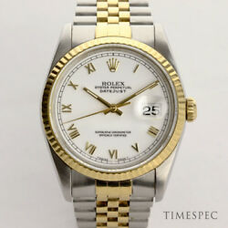 Rolex Gents Datejust 36mm in Steel & Gold with Box & Papers from 1992