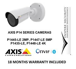 Axis P1448-le P1447-le P1445-le P1435-le 4k Hd Ir Network Cameras Ip 66 Rated