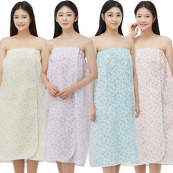 Line Gown St200 Floral Pattern Spa Massage Wrap Gown Bath Shower Cover Up Skin