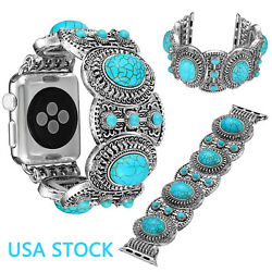 Bling Turquoise Bangle Strap For Iwatch Series 6 5 4 3 Apple Watch Band Belts Us
