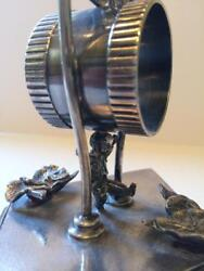 Antique Figural Silverplate Napkin Ring Rogers Smith And Co. Kicking Boy
