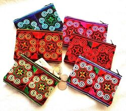 Wholesale 120 Pcs Thai Hmong Handmade Embroidered Purse Bag Wallet Coin Bags