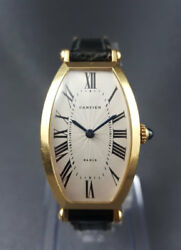 Cartier Tonneau Private Collection Ladies 18K Yellow Gold Manual Watch