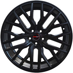 4 GWG Wheels 20 inch Matte Black FLARE Rims fits CHEVY IMPALA 2000 - 2013